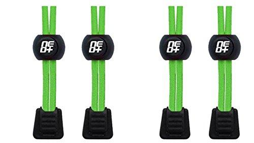 Packungen von elastischen Lock Schnürsenkel für Laufen und Triathlon?UK Verkäufer. - 2 SETS NEON GREEN