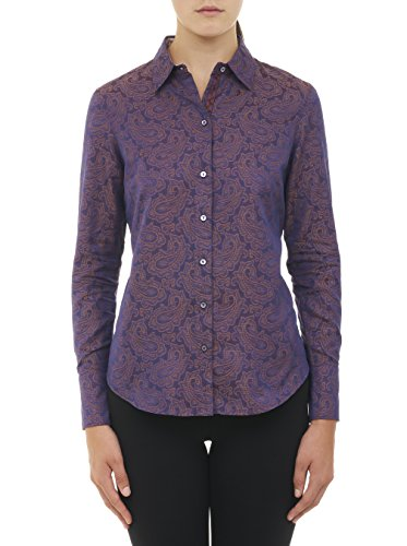 Robert Graham Arlene Long Sleeve Woven Shirt Violet Medium