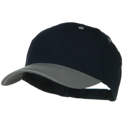 - Otto Caps Two Tone Cotton Twill Low Profile Strap Cap - Grey Navy