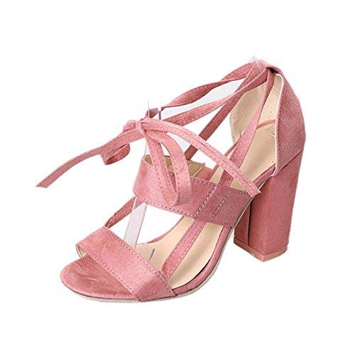 Chaussures Talons Cheville Hauts Orteil pour rose Femelle pour Tingtingbin Femme Sandales Sandales Talons Femme Sandales OwFSP8q