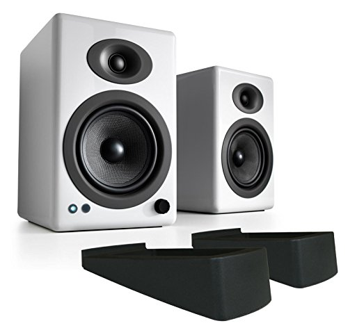 Audioengine A5+ Wireless Powered Speakers with DS2 Stands - (Pair) White