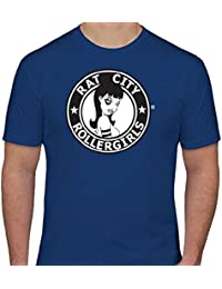 Original Rat City Rollergirls Mens T-Shirt in Royal Blue