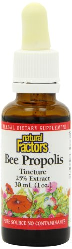 Natural Factors Bee Propolis Tincture 25%, 1-Ounce
