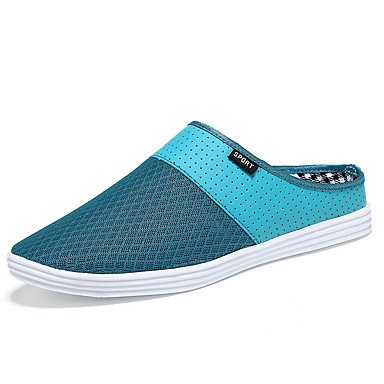 Zapatos de hombre exterior / Tulle casual zuecos & Mulas negro / azul / amarillo / Blanco / Gris Blanco