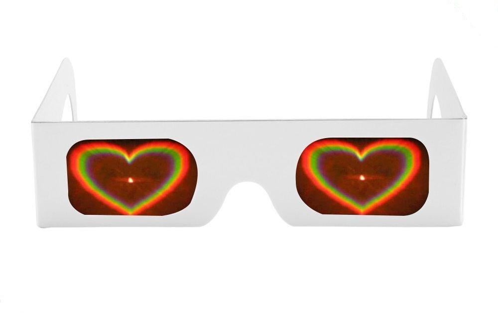 Lunettes à diffraction avec cadre en papier pour feux d\'artifice et spectacle laser Pack de 2
