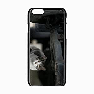iPhone 6 Black Hardshell Case 4.7inch muzzle surprise look Desin Images Protector Back Cover