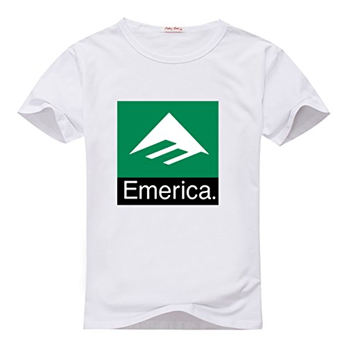 Emerica Combo (Fancesca Women's Emerica Men's Combo 10 Graphic Logo Printed Crew Neck Tops L White)