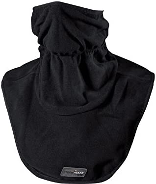 Thermoboy Gesichtsschoner, Halskrause Fleece-Halswärmer 1.0, winddicht, atmungsaktiv, Stretch am oberen Abschluss sowie unter dem Kinn, 100% Polyester, Schwarz, Einheitsgröße