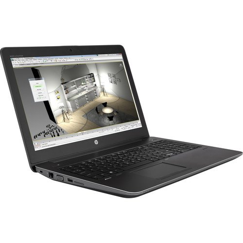 HP zBook 15-G4 Mobile Workstation Intel:I7-7820hq, 16GB, 512GB/SSD, WiFi+Bluetooth, Backlit-Keyboard, Finger Print Reader, Webcam, Quadro m2200 GPU, 15.6