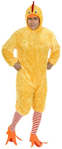 (Charades Plus Size Funky Chicken Costume Set, Yellow)