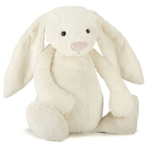 Jellycat Bashful Cream Bunny, Really Big, 31 inches