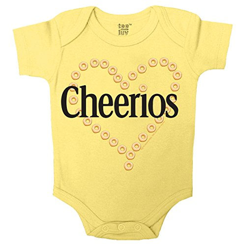 Cheerios Heart Onesie-6MO Yellow (The Best Baby Cereal Brand)