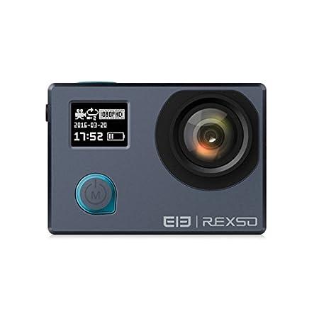 Blue: Duel Screen Action Camera Elephone REXSO Explorer Dual 4K WIFI Sports Action Camera High Definition 170 Degrees Lens Camera