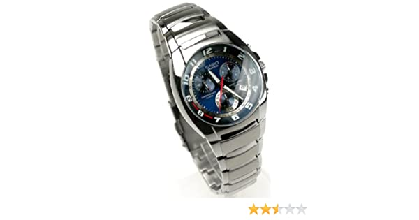 Amazon.com: Casio Edifice Mens Stainless Steel Watch EF-510D-2AVDF Alarm Chronograph: Watches