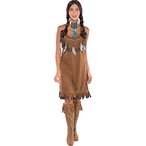 Amscan Native American Halloween Costume for Women, One Size -