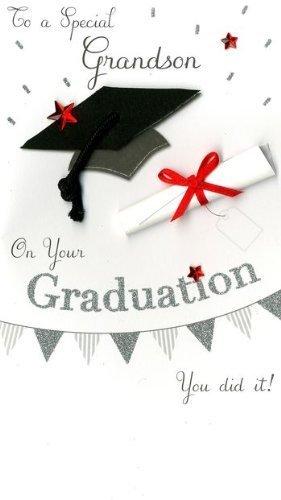 to a special grandson handmade graduation card jgs463