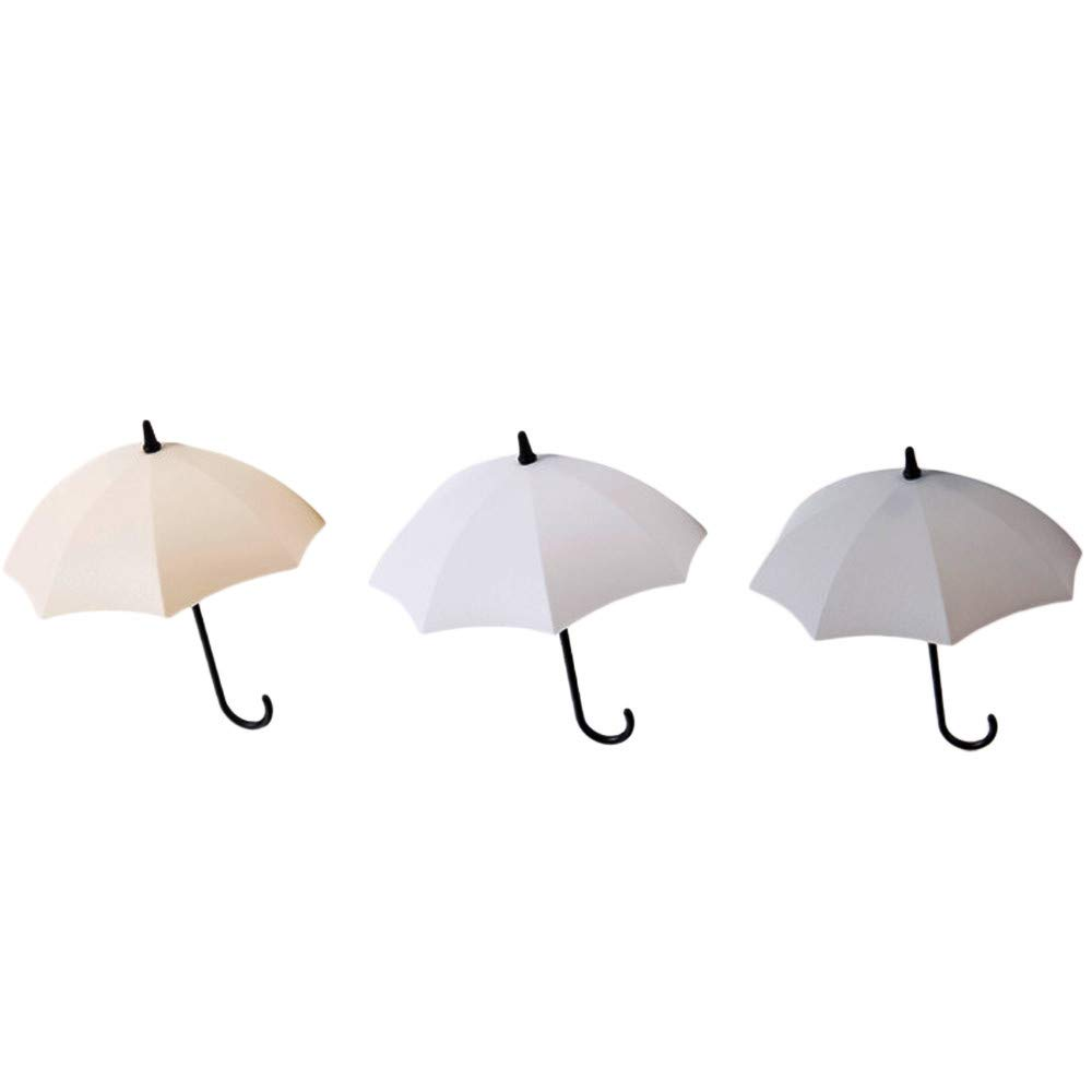 Umbrella Wall Hooks Clearance - Iuhan 6pcs/Set Cute Umbrella Wall Mount Key Holder Wall Hook Hanger Organizer Durable (B) Iuhan ®