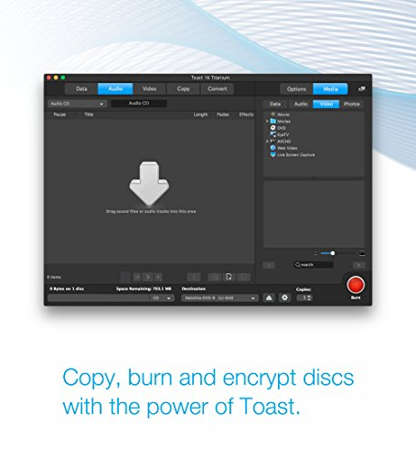 Toast 17 Titanium CD/DVD Burning Suite for Mac - Import It All