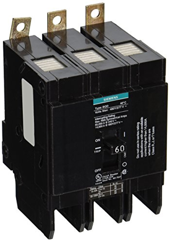 Siemens BQD360 60-Amp Three Pole 480Y/277V AC 14KAIC Bolt in Breaker by Siemens