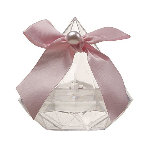 Hoxekle 12 PCS Transparent Plastic Candy Boxes Wedding Favor Boxes Diamond shape lollipop Sweet Cake Gift Supplies Baby Shower Favors Birthday Party Decorations Multi-color - Baby Shower Lollipops Personalized