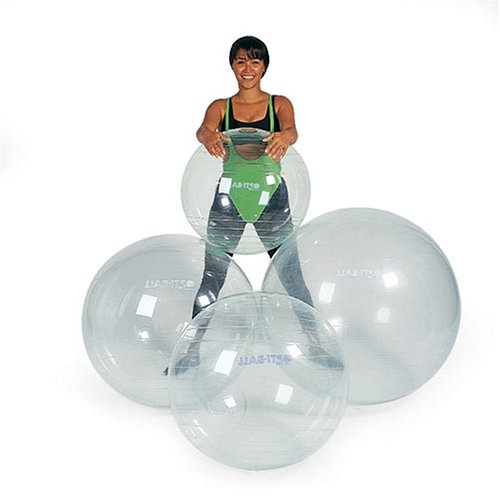 New Opti Swiss Fitness Exercise Ball TRANSPARENT 75cm