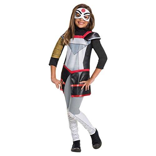 Girls DC Comics Super Hero Girls Deluxe Katana Costume (Small 4-6) (Katana Dc)