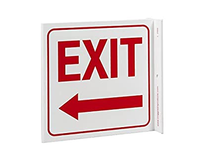 ZING Eco Safety Projecting Sign, Exit Left Arrow, Made from Recycled Plastic, Available in different Sizes