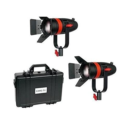 Came-TV Boltzen F-55W Fresnel 55W Focusable LED Daylight 2-Light Kit, Includes 2x AC Power Cord, 2x Power Adapter, Hard Travel - 55w Tv