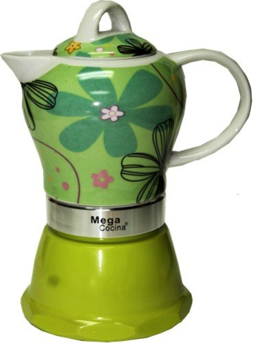 Espresso Cuban Coffee Maker 4 DEmitasse Cups Color LIME GREEN