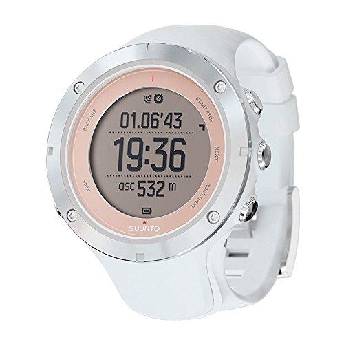 Hours Round Sapphire - Suunto Ambit3 Matrix Display Sapphire Sport Watch, White Silicone Band, Round 50mm Case