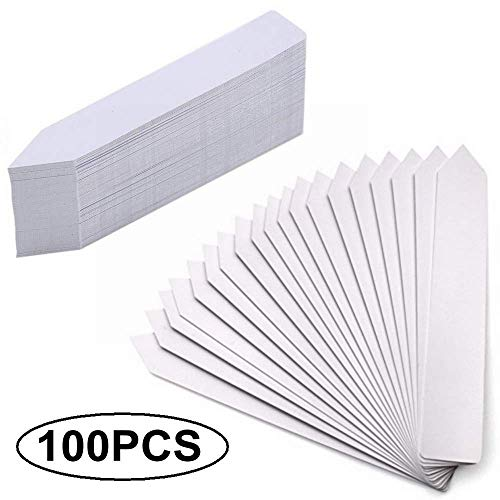 Plant Labels - LiyuanQ 100PCS Plant Markers Labels, Waterproof Tags Garden Labels Seed Nursery Garden Stake Little Tool Gardening Accessories (Pencil-Type, White)