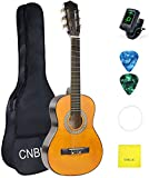 Classical Acoustic Guitar 1/2 Size 30 inch for Beginner Kid Small Nylon String Guitar with Bag Tuner Extra Strings Wipe Picks