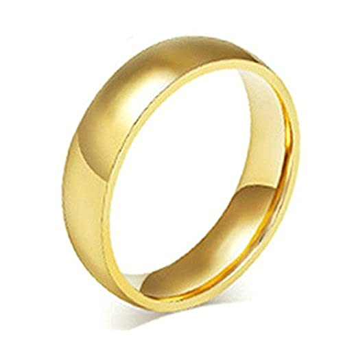 92a2bdb5d3da 50% de descuento Daesar Joyería Anillo Acero Oro Pulido Boda Alianzas