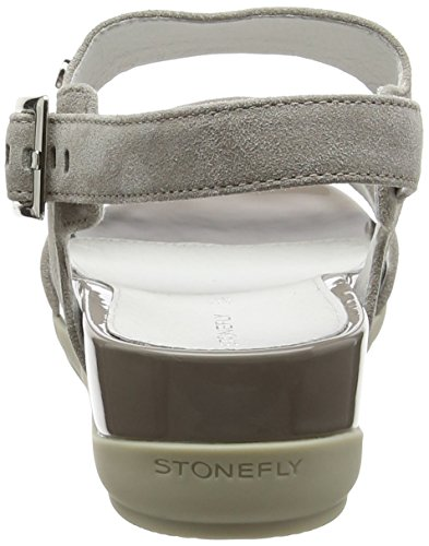Sandales Eve 9 Gris 423 Ouvert Bout Stonefly Taupe Femme zEaxxg6