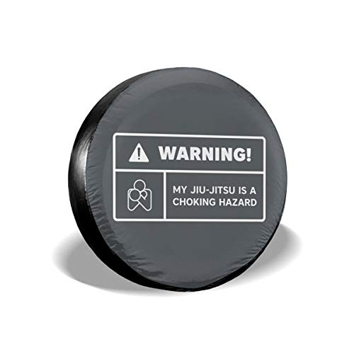 Hanging Decorations Warning Choking Label BJJ Tee Brazilian Jiu Jitsu Waterproof Dust-Proof Universal Spare Wheel Tire Cover Fit for Jeep,Trailer, RV, SUV and Many Vehicle 14