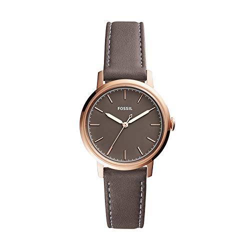 Fossil Women Neely Stainless Steel and Leather Casual Quartz Watch