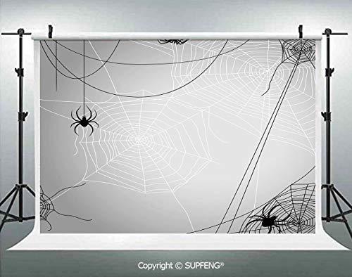 Photography Backdrops Spiders Hanging from Webs Halloween Inspired Design Dangerous Cartoon Icon Decorative 3D Backdrops for Photography Backdrop Photo Background Studio Prop -