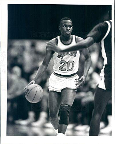 Syracuse Orange Photo - Vintage Photos 1988 Press Photo Syracuse Orange Basketball Point Guard Sherman Douglas