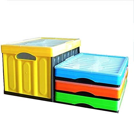 Plegable Caja Plegable Cesta de la Utilidad Almacenamiento Plástico Cesto Plegable Apilables Cajas Almacenaje Portátil Organizador Del Coche Envase,Verde: Amazon.es: Hogar