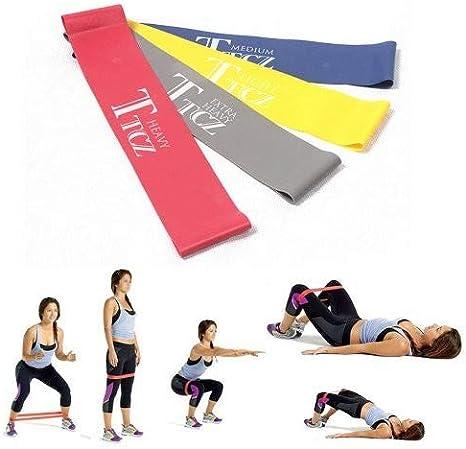 MLTrade - Pack de 4 Bandas elasticas de Distintos Grados de ...