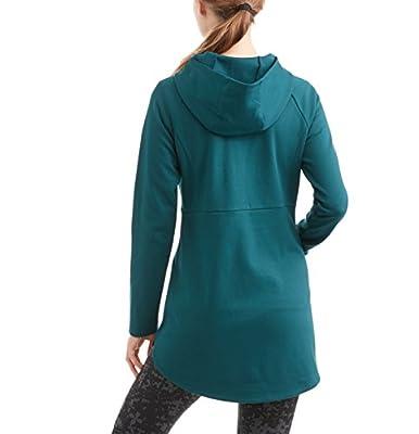 Danskin Now Women's Active Double Knit Athletic Tunic Full Zip Jacket