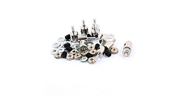 uxcell 10 Pcs 4 x 1.2 x 11mm Copper Linkage Stoppers PRC Push Rod Keepers w Screws