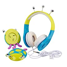 Blue / Green Ladybird Children's Headphones For Vtech DigiGo Kids Tablet