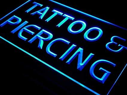 Amazon.com: Tatuaje Piercing abrir Servicio Letrero De Led ...