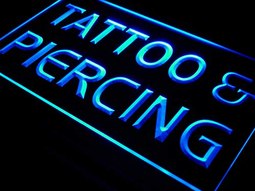 ADVPRO Cartel Luminoso i482-b Tattoo Piercing Open Service New Neon Light Sign