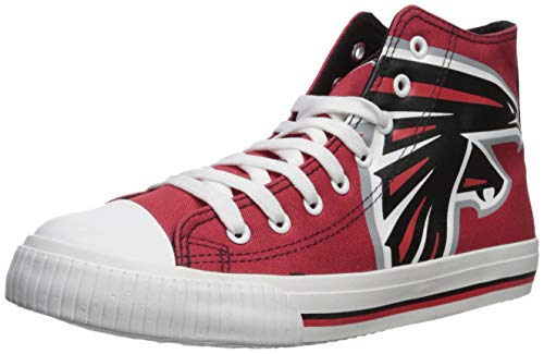 Basketball Falcons (FOCO NFL Mens High Top Big Logo Canvas Shoe - Mens, Atlanta Falcons, Small)