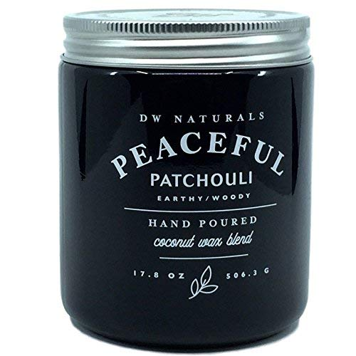 DW Naturals Peaceful Patchouli Earthy Woody Hand Poured Coconut Wax Blend Candle 17.8 Oz
