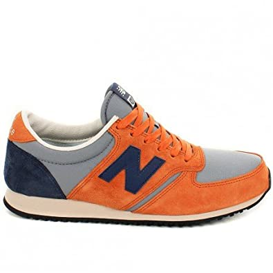 detailed pictures f62b2 bc642 Basket New Balance Classics U420 Orange Gris et Bleu