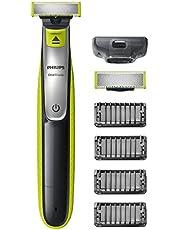 Philips QP2530/30 OneBlade, Rade, Regola e Rifinisce con 4 Pettini Regolabarba e 1 Lama di Ricambio Inclusa