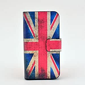 Bkjhkjy Vintage Union Flag Pattern Full Body Leather Tpu Case for iPhone 4/4S